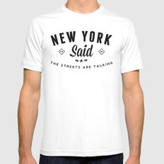 New York Said Mens Fitted Tee White SMALL