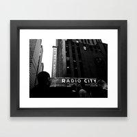 NEW YORK//RADIO CITY MUSIC HALL Framed Art Print