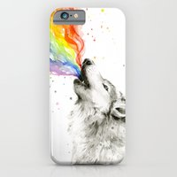 Wolf Rainbow Watercolor Howling iPhone 6 Slim Case