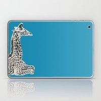 Giraffe in Blue Laptop & iPad Skin