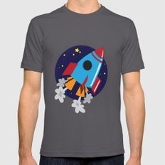 Space Cruiser Mens Fitted Tee Asphalt SMALL