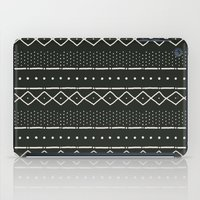 Mudcloth In Bone On Blac… iPad Case