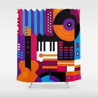 Music Mosaic Shower Curtain