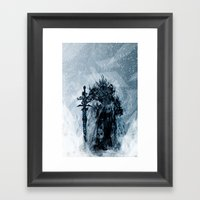 A Frosty King Framed Art Print