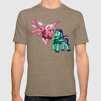 Mad T Ponies 'Mally and Thackery' Mens Fitted Tee Tri-Coffee SMALL