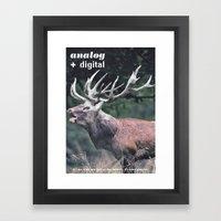 Analog + Digital Framed Art Print