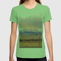 Those Crazy Mountains Womens Fitted Tee Grass SMALL