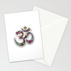 Om Aum Namaste Yoga Symbol  Stationery Cards