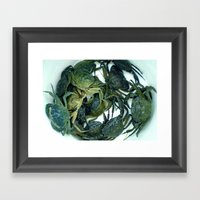 In The Crab Basket Framed Art Print
