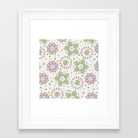 Petals And Leaves Framed Art Print