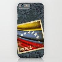 Grunge sticker of Venezuela flag iPhone 6 Slim Case