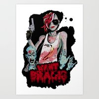Want Brains  Art Print