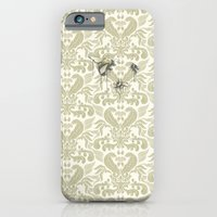 iPhone & iPod Case featuring Three Bees On Baroque by Kyle Cobban