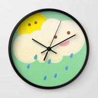 Raining day Wall Clock