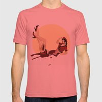 Pinned-Up Entrails  Mens Fitted Tee Pomegranate SMALL