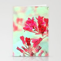 summer pink flowers. botanical art.  floral photo art. Stationery Cards