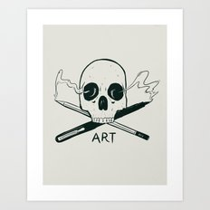 Sold my soul to art Art Print