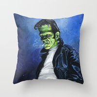 Rebel Frankenstein Throw Pillow