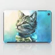 iPad Case featuring Handsome Cat by Alice X. Zhang
