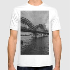Hohenzollernbrucke Mens Fitted Tee White SMALL