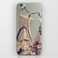 Romantic White Bicycle iPhone & iPod Skin