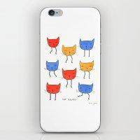 cat heads iPhone & iPod Skin