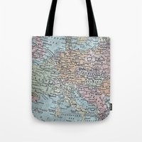 old map of Europe Tote Bag