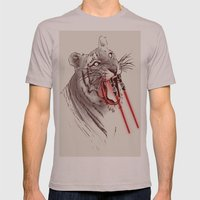 Light Saber Tooth Tiger Mens Fitted Tee Cinder SMALL
