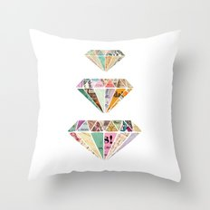 Diamonds are a Girls Best Friend Throw Pillow