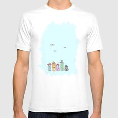 Painted Houses Mens Fitted Tee White SMALL