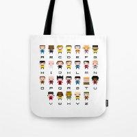 Pixel Star Trek Alphabet Tote Bag