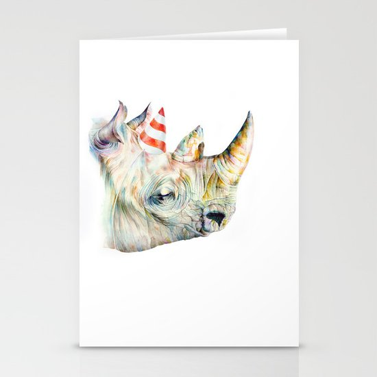 Rhino's Party Stationery Card