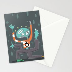 Crazy Alien Stationery Cards