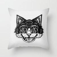 The Creative Cat Throw Pillow