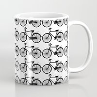 Black Bicycle Pattern Mug