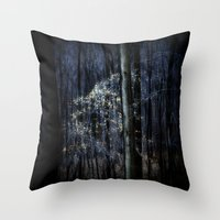 Late Fall In The Forest Throw Pillow
