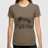 Puente en la Boca Womens Fitted Tee Tri-Coffee SMALL