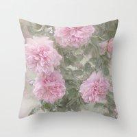 Rosen Blüten Throw Pillow