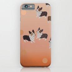 corgi dots - rust iPhone 6s Slim Case