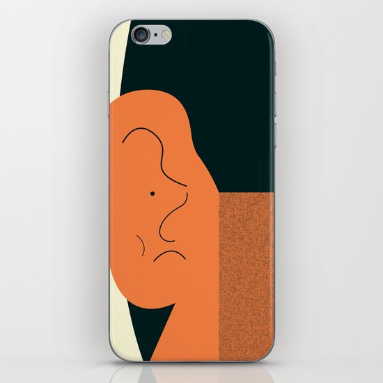 Angry talking makes the ear cranky iPhone & iPod Skin