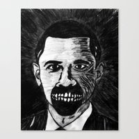 44. Zombie Barack Obama  Canvas Print