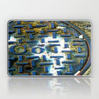 Deep Blue Metal Laptop & iPad Skin