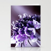 Purple Scabious Macro Stationery Cards
