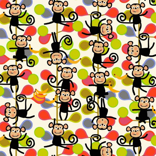 felt monkeys Art Print