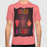Disco Biscuits Mens Fitted Tee Pomegranate SMALL