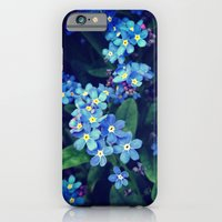 iPhone & iPod Case featuring Blue Flowers by R. Phillips