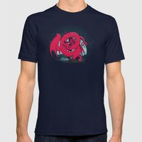 Last of the Dovah (Skyrim) Mens Fitted Tee Navy SMALL