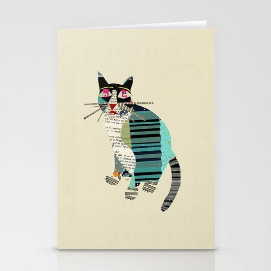 blackberry cat Stationery Card