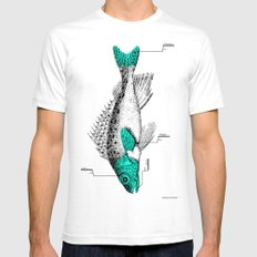 Fish SMALL Mens Fitted Tee White