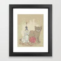 Naughty Cats Framed Art Print